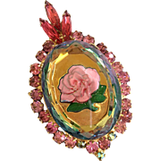 Juliana (D&E) Reverse Intaglio Rose Brooch-Pendant: Book Pc.