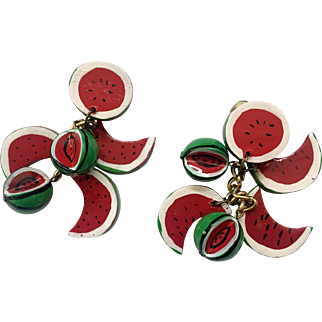 Southern Flair Holiday Watermelon Dangle Earrings