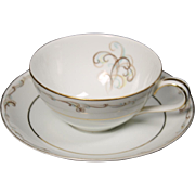 Noritake ''Esteem'' Cup and Saucer