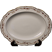 Royal Doulton Bone China Oval Serving Platter in the Strasbourg Pattern.  Measures 13 5/8''.