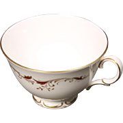 Beautiful  Royal Doulton Bone China Footed Coffee Cup in the Strasbourg Pattern.  Measures 2 5/8''.