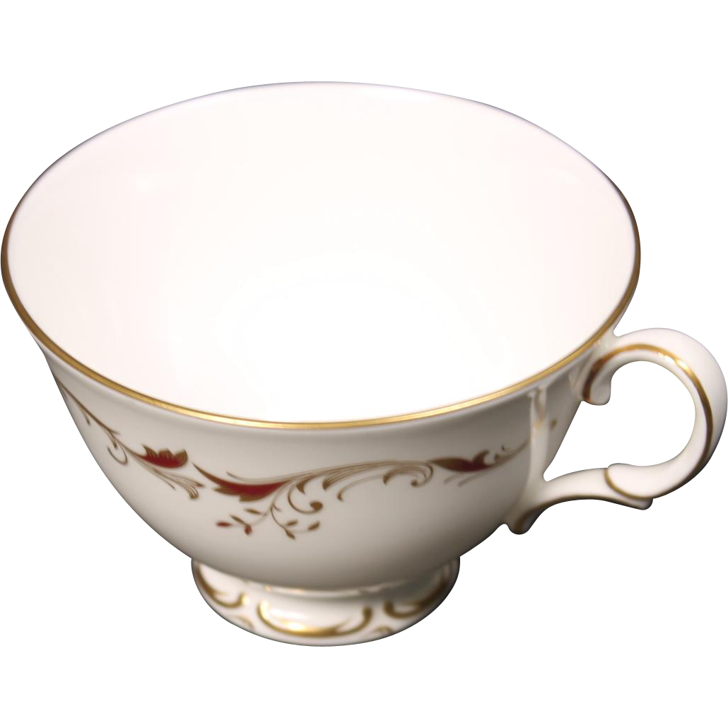 "Beautiful  Royal Doulton ""Strasbourg"" Bone China Footed Coffee Cup"