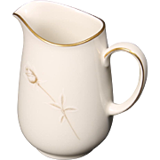 Noritake ''Nora'' Creamer - White with Gold Rose and Trim.  4''.