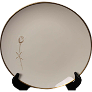 Noritake ''Nora'' Salad Plate - White with Gold Rose and Trim.  8 3/8''.