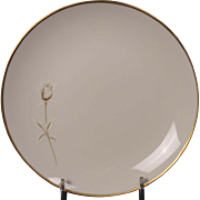 Noritake ''Nora'' Bread and Butter Plate - White with Gold Rose and Trim.  6 1/2''.