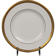 Wedgwood ''Senator'' Bread and Butter Plate with a beautiful gold encrusted laurel band.  6''