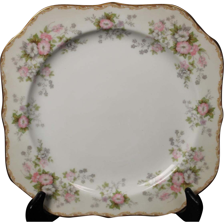 Nortiake ''Petite Fleur'' Square Salad Plate.  7-7/8''