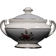Royal Doulton ''Chateau Rose'' Lidded Sugar.  3-1/2''