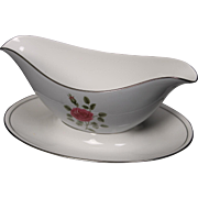 Royal Doulton ''Chateau Rose'' Gravy Boat with Atached Underplate.  8-1/4''