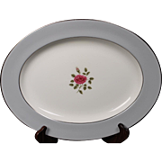 Royal Doulton ''Chateau Rose'' Oval Platter.  13-3/4''