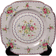 Royal Albert ''Petit Point'' Bone China Square Salad Plate.  7-5/8''