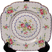 Royal Albert ''Petit Point'' Bone China Square Dessert/Pie Plate.  6-7/8''