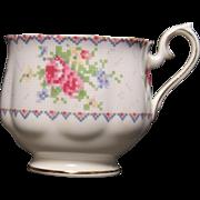 Royal Albert ''Petit Point'' Bone China Footed Cup.  2-3/4''
