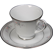 Noritake ''Hailey'' Legendary Cup and Saucer.