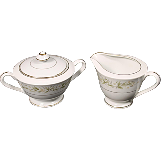 Morimura (Noritake) Fine China of Japan ''Pembrook'' Creamer and Covered Sugar.