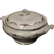 Royal Bayreuth ''Juwel'' Lidded Serving Bowl circa 1945.