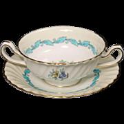 Minton's ''Ardmore'' Cream Soup and Saucer Set circa 1940's