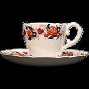 Royal Cauldon ''Majestic'' Demitasse Cup and Saucer.