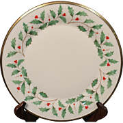 Lenox Dimension ''Holiday'' Dinner Plate.  10-3/4''