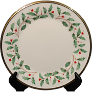 Lenox Dimension ''Holiday'' Salad Plate.  8-1/8''