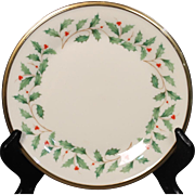 Lenox Dimension ''Holiday'' Bread and Butter Plate.  6-3/8''