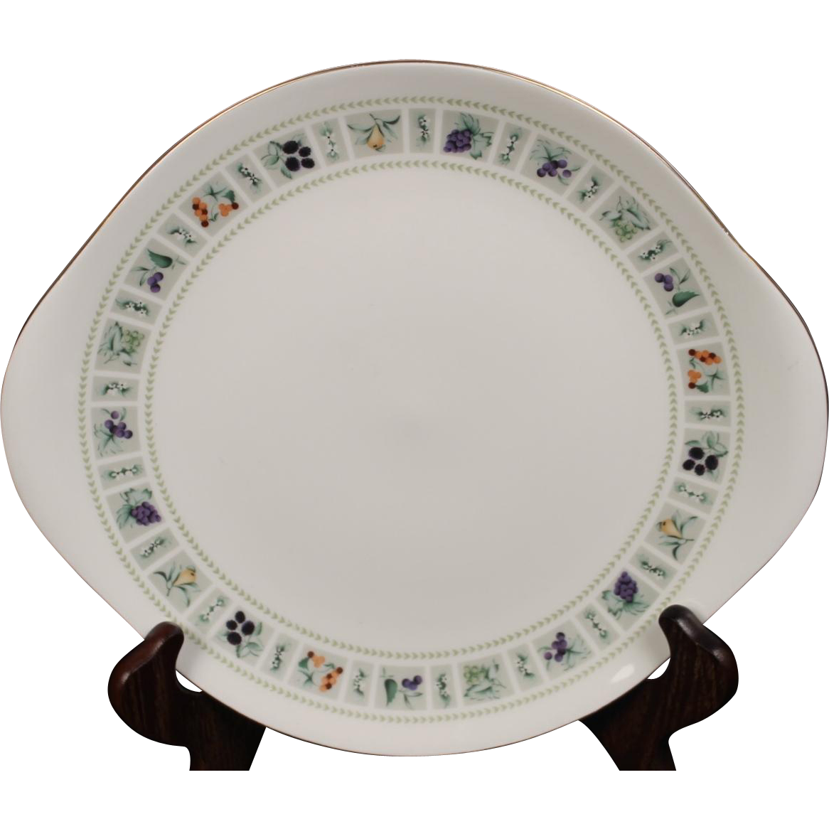 Royal Doulton ''Tapestry'' Cake Plate with Handles.  10-3/8''