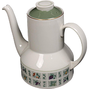 Royal Doulton ''Tapestry'' Coffee Pot with Lid.  6-3/4'' and holds 4 cups.