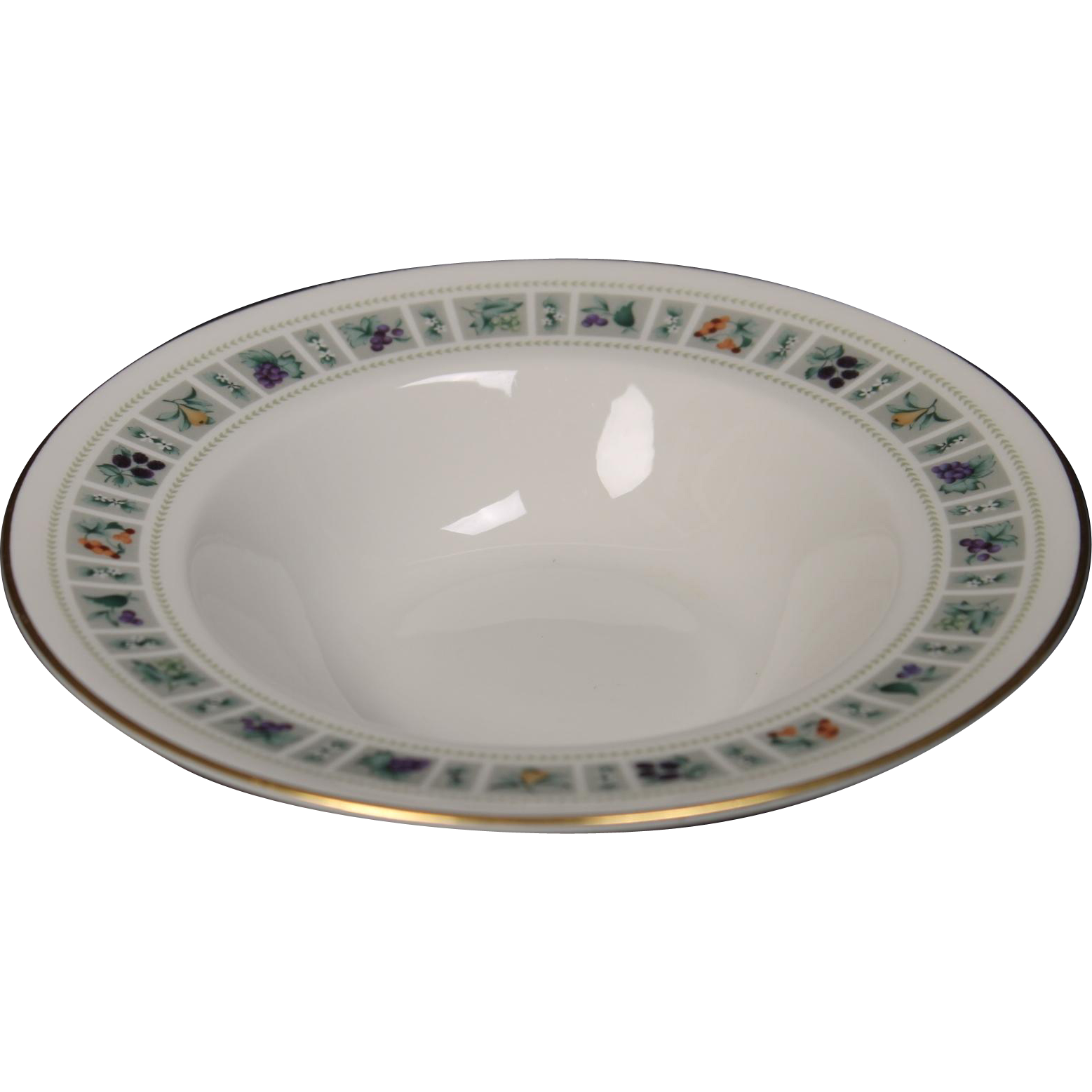 Royal Doulton ''Tapestry'' Rimmed Soup Bowl.  8-1/8''