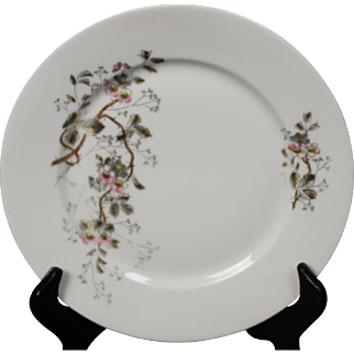 Beautiful Floral Oscar Gutherz Limoges Bread and Butter Plate.  7-3/8'', Circa 1884-1898 and Pattern Unknown.