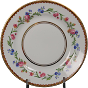 Beautiful French Limoges Bread and Butter Plate from Raynaud & Co.  Mixed Floral Pattern with Gold Trim.