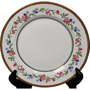 Beautiful French Limoges Salad Plate from Raynaud & Co.  Mixed Floral Pattern with Gold Trim.