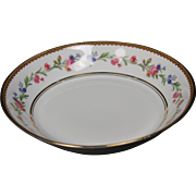 Beautiful French Limoges Soup Bowl from Raynaud & Co.  Mixed Floral Pattern with Gold Trim.