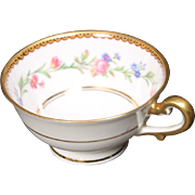 Beautiful French Limoges Cup from Raynaud & Co.  Mixed Floral Pattern with Gold Trim.