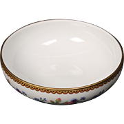 Beautiful French Limoges Finger/Rice Bowl from Raynaud & Co.  Mixed Floral Pattern with Gold Trim.