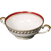 "Cream Soup Bowl by Franconia/Krautheim in the ""Ruby"" pattern."