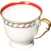 """Demitasse Cup by Franconia/Krautheim in the """"Ruby"""" pattern."""