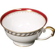 "Cup by Franconia/Krautheim in the ""Ruby"" pattern."