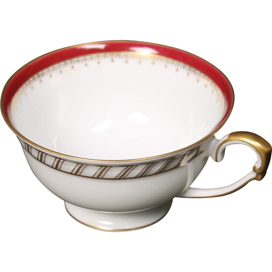 """Cup by Franconia/Krautheim in the """"Ruby"""" pattern."""