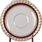 "Demitasse Saucer by Franconia/Krautheim in the ""Ruby"" pattern."