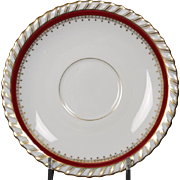 "Saucer by Franconia/Krautheim in the ""Ruby"" pattern."