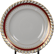 "Bread and Butter Plate by Franconia/Krautheim in the ""Ruby"" pattern."