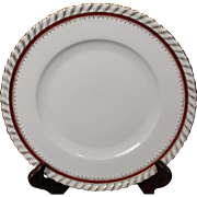"German Dinner Plate by Franconia/Krautheim in the ""Ruby"" pattern.  10-3/4"""