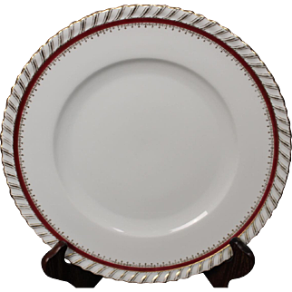 """German Dinner Plate by Franconia/Krautheim in the """"Ruby"""" pattern.  10-3/4"""""""