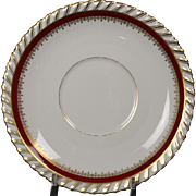 """Cream Soup Saucer by Franconia/Krautheim in the """"Ruby"""" pattern."""