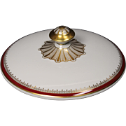 """Serving Bowl Lid Only by Franconia/Krautheim in the """"Ruby"""" pattern."""
