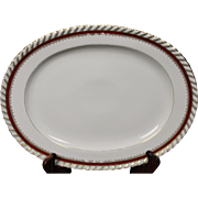 """Oval Platter by Franconia/Krautheim in the """"Ruby"""" pattern."""