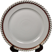 """Round Chop Platter by Franconia/Krautheim in the """"Ruby"""" pattern."""
