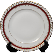 """Salad Plate by Franconia/Krautheim in the """"Ruby"""" pattern."""
