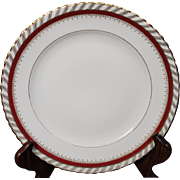 """Luncheon Plate by Franconia/Krautheim in the """"Ruby"""" pattern."""