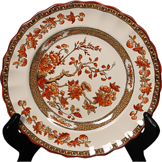 Beautiful English Spode ''India Tree'' Bread and Butter Plate by W. T. Copeland.  6-1/2''